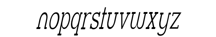 Street Slab Fine NarrowItalic Font LOWERCASE