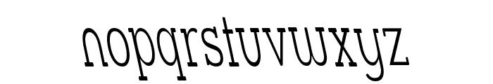 Street Slab Fine NarrowRev Font LOWERCASE