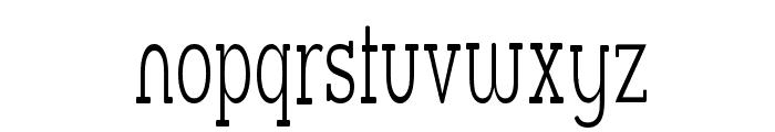 Street Slab Fine Narrow Font LOWERCASE