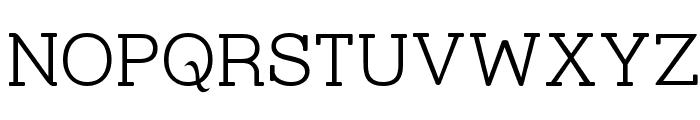 Street Slab Fine Font UPPERCASE