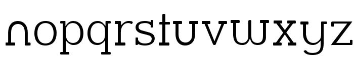 Street Slab Fine Font LOWERCASE