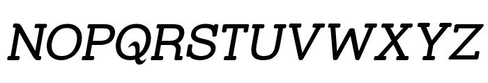 Street Slab Italic Font UPPERCASE