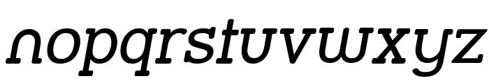 Street Slab Italic Font LOWERCASE