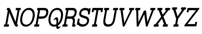 Street Slab - Narrow Italic Font UPPERCASE