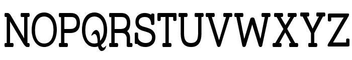 Street Slab - Narrow Font UPPERCASE
