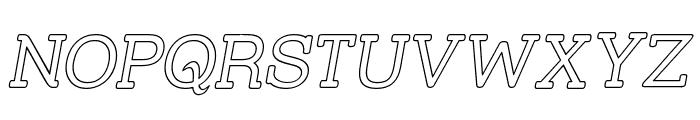 Street Slab - Outline Italic Font UPPERCASE