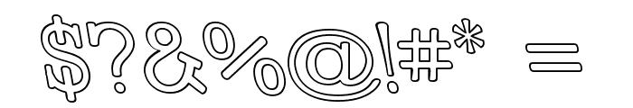 Street Slab - Outline Rev Font OTHER CHARS