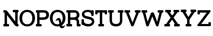Street Slab SemiBold Font UPPERCASE