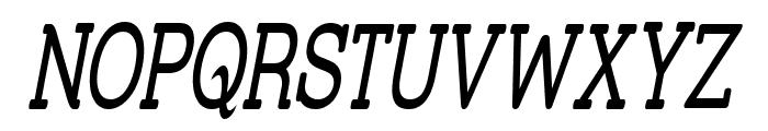 Street Slab - Super Narrow Italic Font UPPERCASE