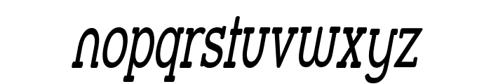 Street Slab - Super Narrow Italic Font LOWERCASE