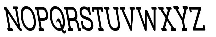 Street Slab - Super Narrow Rev Font UPPERCASE