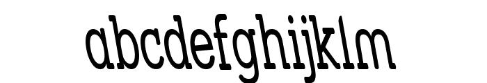 Street Slab - Super Narrow Rev Font LOWERCASE