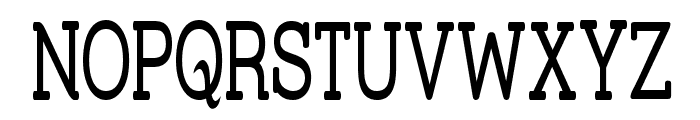Street Slab - Super Narrow Font UPPERCASE
