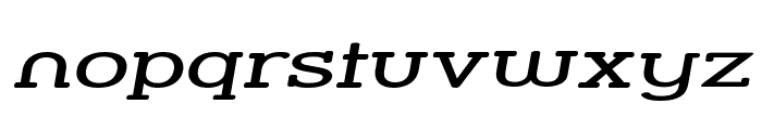 Street Slab - Super Wide Italic Font LOWERCASE