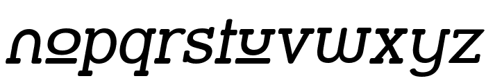 Street Slab Upper Italic Font LOWERCASE