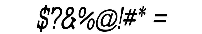 Street Slab Upper - Narrow Italic Font OTHER CHARS