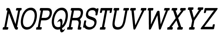 Street Slab Upper - Narrow Italic Font UPPERCASE