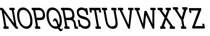 Street Slab Upper - Narrow Rev Font UPPERCASE