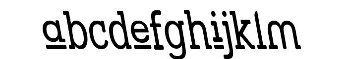 Street Slab Upper - Narrow Rev Font LOWERCASE