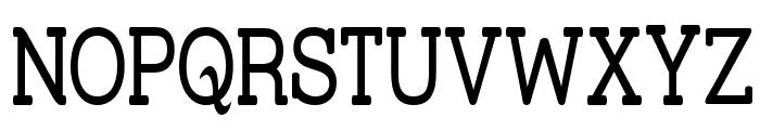 Street Slab Upper - Narrow Font UPPERCASE