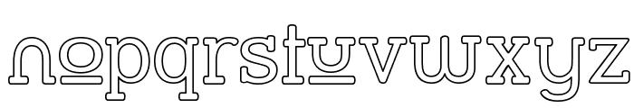 Street Slab Upper - Outline Font LOWERCASE