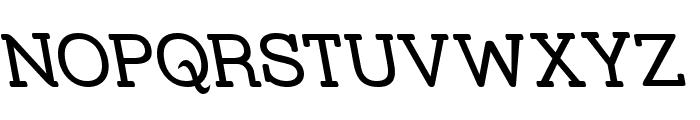 Street Slab Upper - Rev Font UPPERCASE