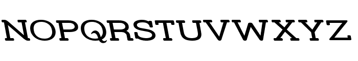 Street Slab Upper - Wide Rev Font UPPERCASE