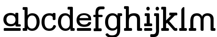 Street Slab Upper Font LOWERCASE