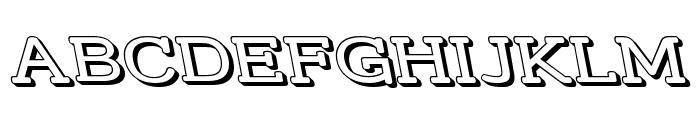 Street Slab - Wide 3D Rev Font UPPERCASE