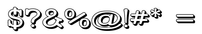 Street Slab - Wide 3D Font OTHER CHARS