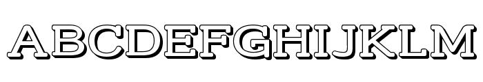 Street Slab - Wide 3D Font UPPERCASE
