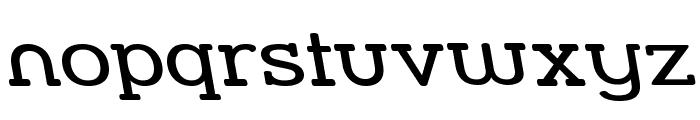 Street Slab - Wide Rev Font LOWERCASE