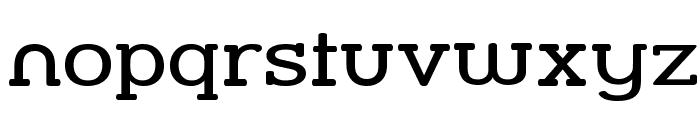 Street Slab - Wide Font LOWERCASE