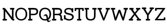 Street Slab Font UPPERCASE