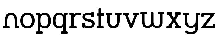 Street Slab Font LOWERCASE