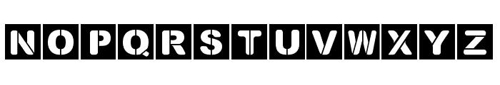Street Stencil Font UPPERCASE