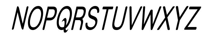 Street - Thin Italic Font UPPERCASE