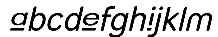Street - Upper Italic Font LOWERCASE