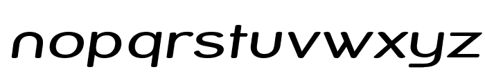 Street Variation - Expanded Italic Font LOWERCASE