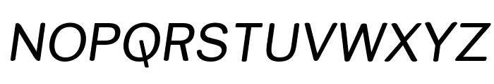 Street Variation Italic Font UPPERCASE