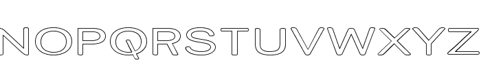 Street Variation - Outline Exp Font UPPERCASE