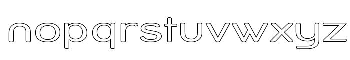 Street Variation - Outline Exp Font LOWERCASE