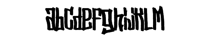 Street Vendetta [Demo] Font LOWERCASE