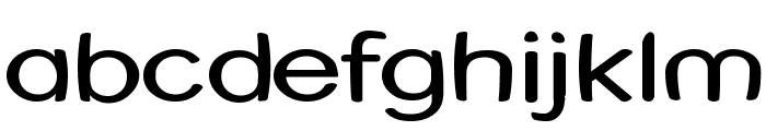Street Warped - Expanded Font LOWERCASE