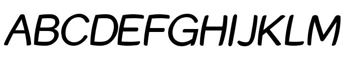 Street Warped Italic Font UPPERCASE