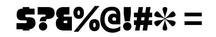StrenuousBl-Regular Font OTHER CHARS