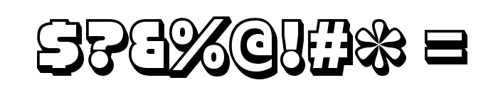 StrenuousThreeD-Regular Font OTHER CHARS