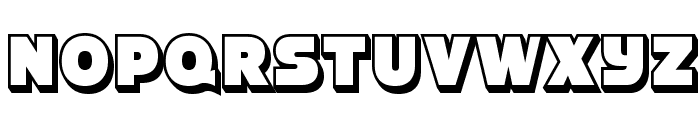 StrenuousThreeD-Regular Font UPPERCASE