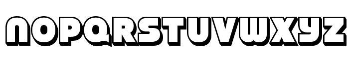 StrenuousThreeD-Regular Font LOWERCASE