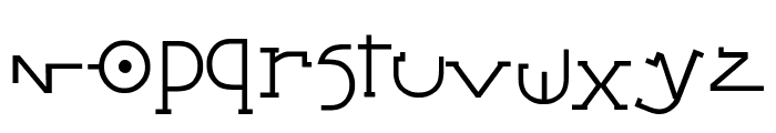 Stretched Signature Best Italic Font LOWERCASE